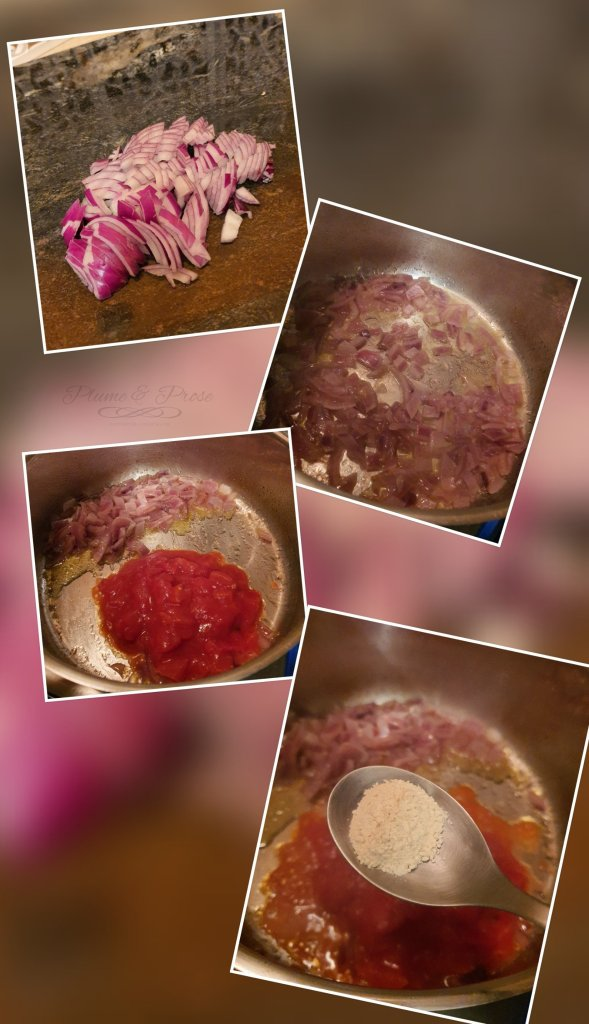 Préparation du curry d'épinards à la féta façon Palak Paneer