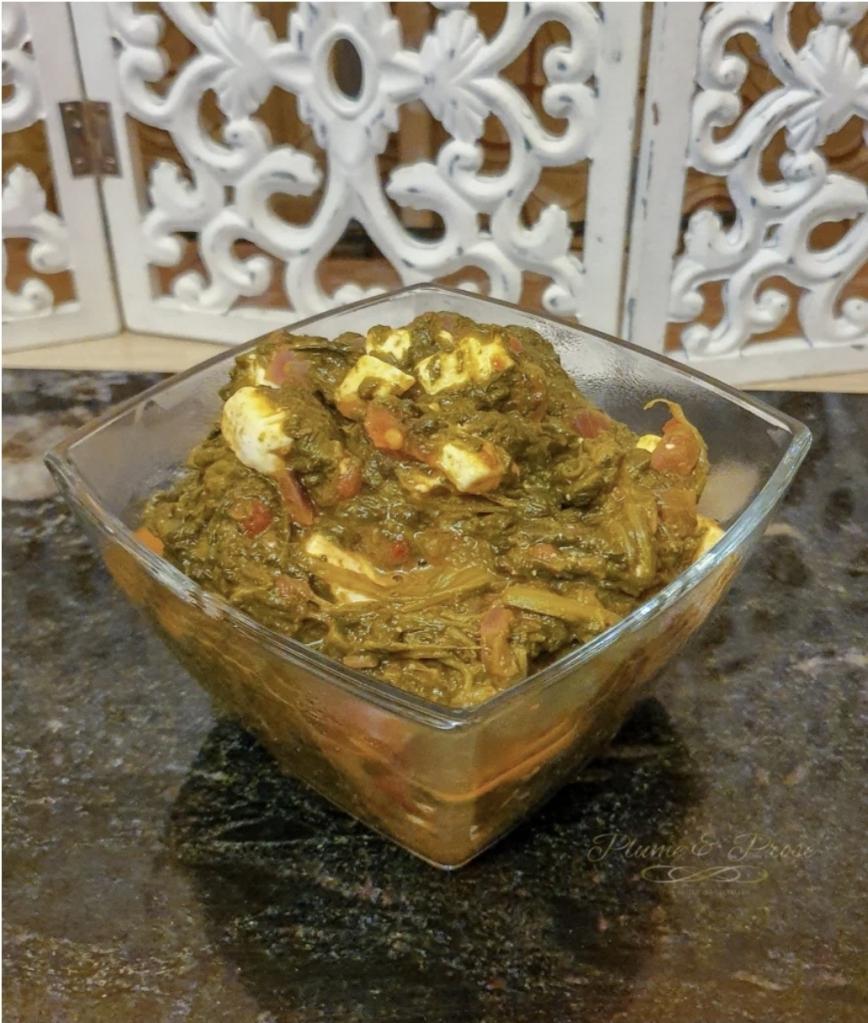 """Curry d'épinards à la féta façon Palak Paneer"""