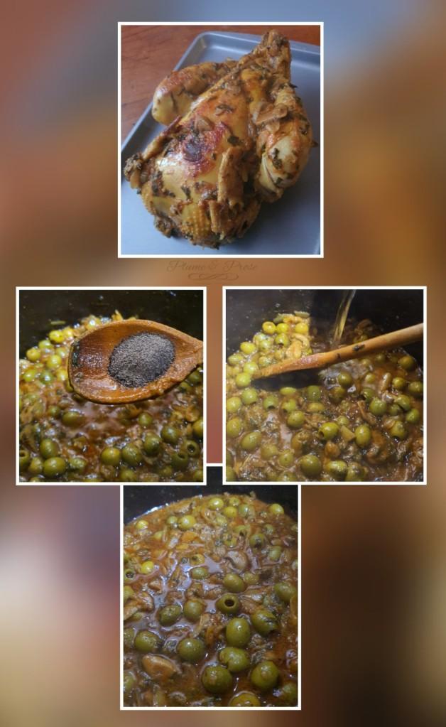 Rectifiez la sauce et faites dorer le poulet
