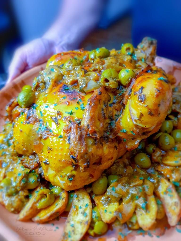 Tajine de Poulet au citron et olives
