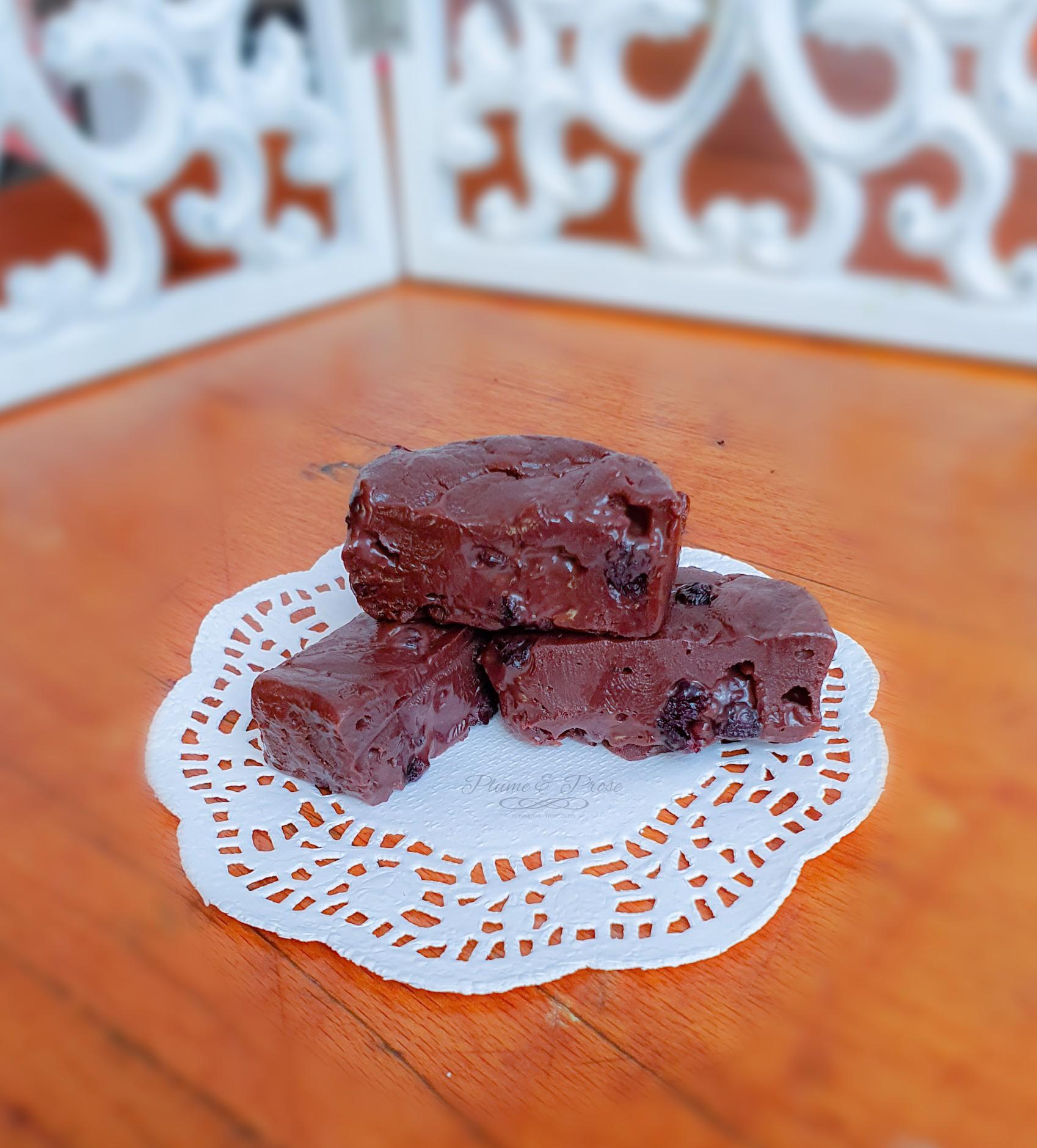 Fudge chocolat myrtilles