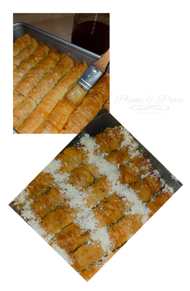 Préparation des baklawa rolls