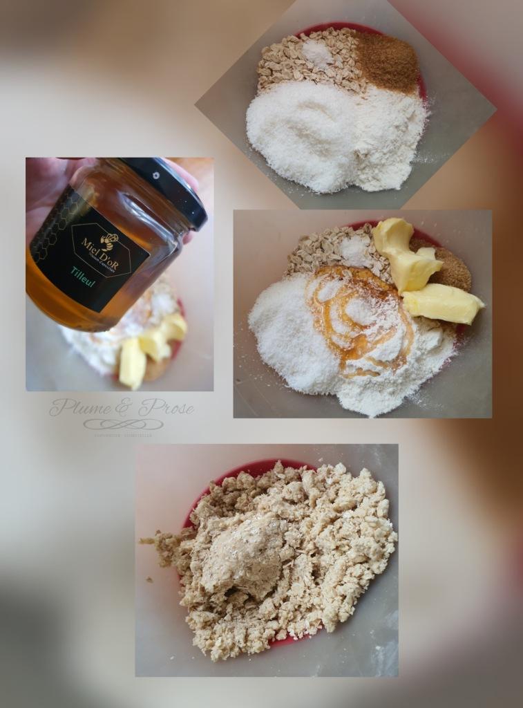"""Préparation """"Anzac Cookie"""" ou les biscuits avoine-coco des îles Salomon"""