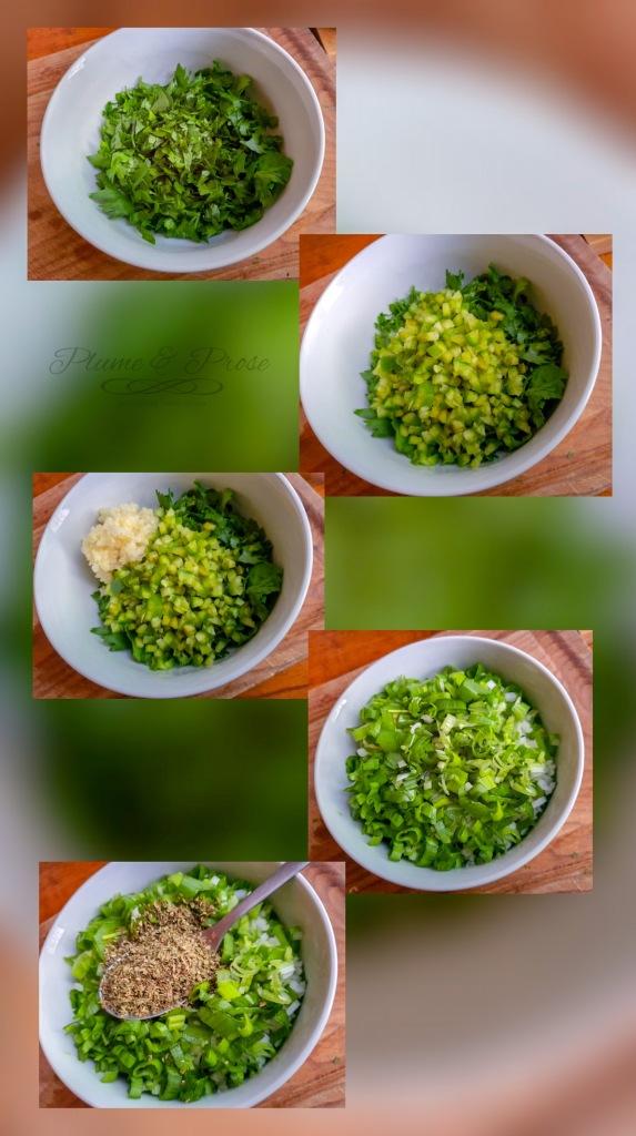 Préparation de la sauce chimichurri