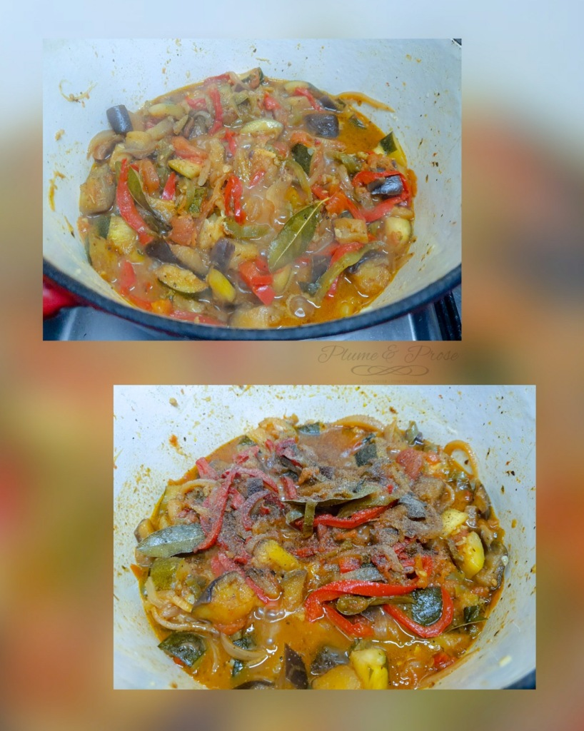 Préparation de la ratatouille traditionnelle