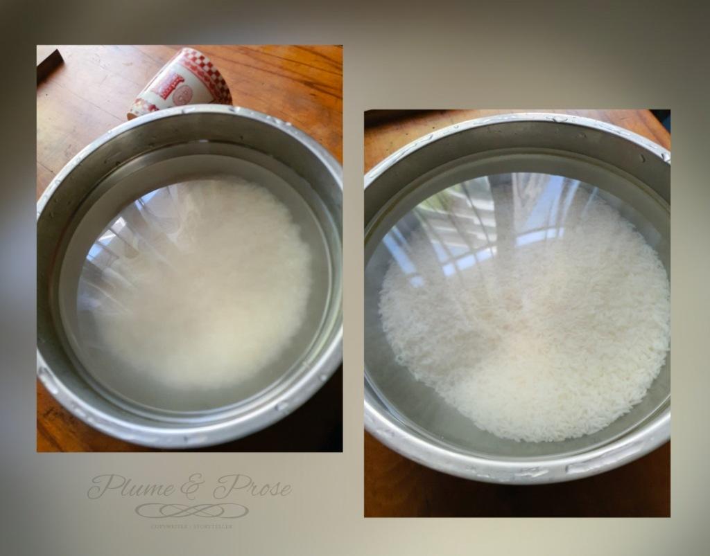 Préparation du riz pulao