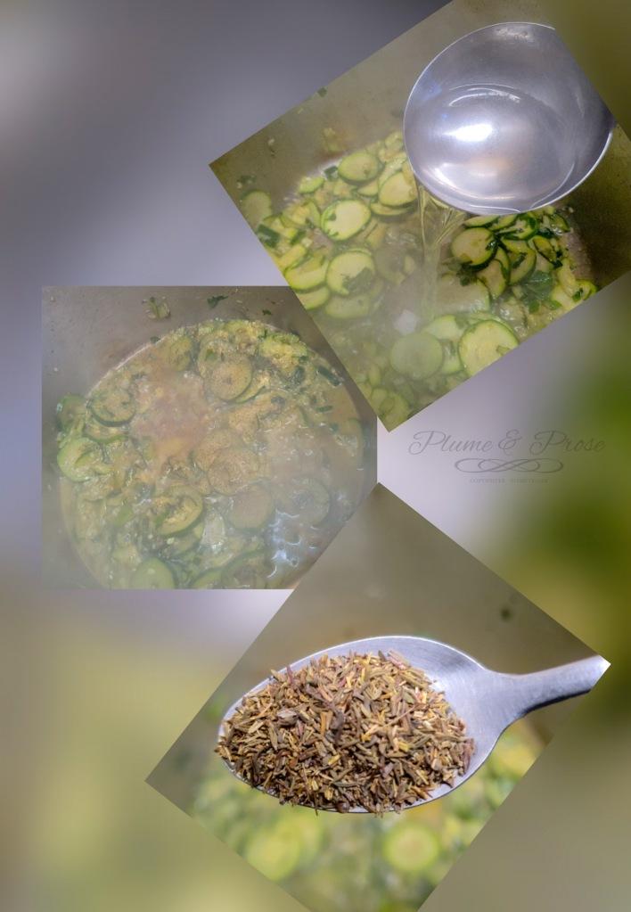 """Préparation des """"Pasta alle Zucchine"""" ou les pâtes aux courgettes à l'italienne"""