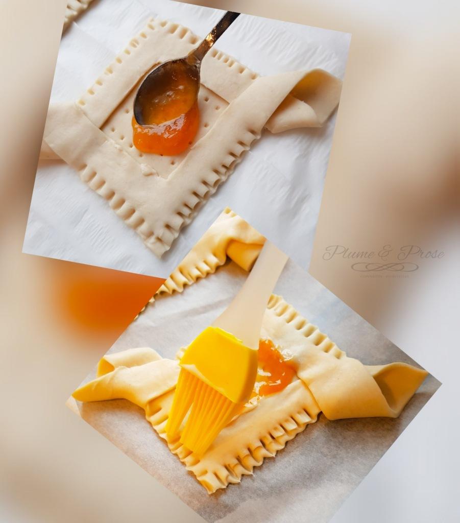 Préparation des tartelettes feuilletées à l'abricot