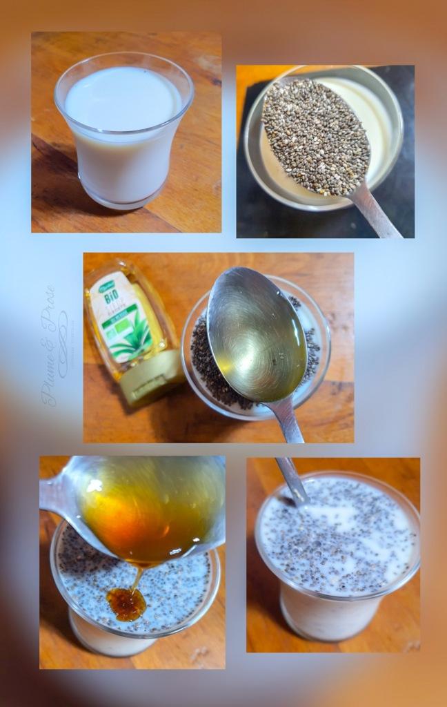 Préparation du Pudding de Chia