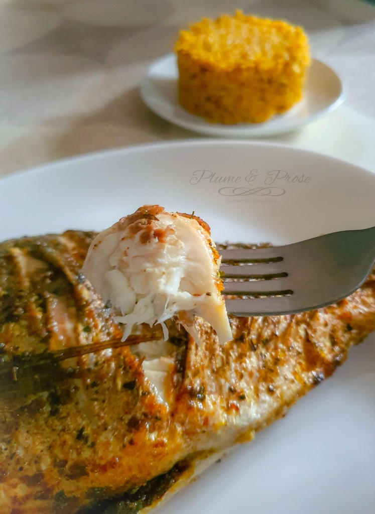 Poisson grillé, au curry