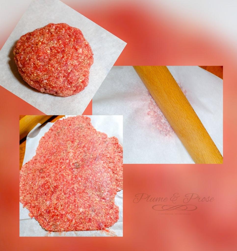 consistance nécessaire pour que la viande se tienne sans s'effriter