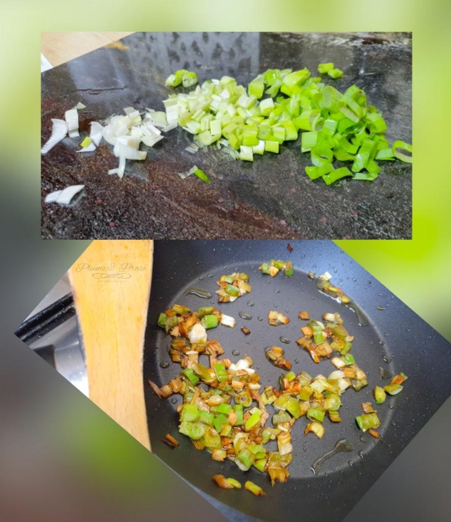 Préparation du riz frit aux oeufs Sud Coréen