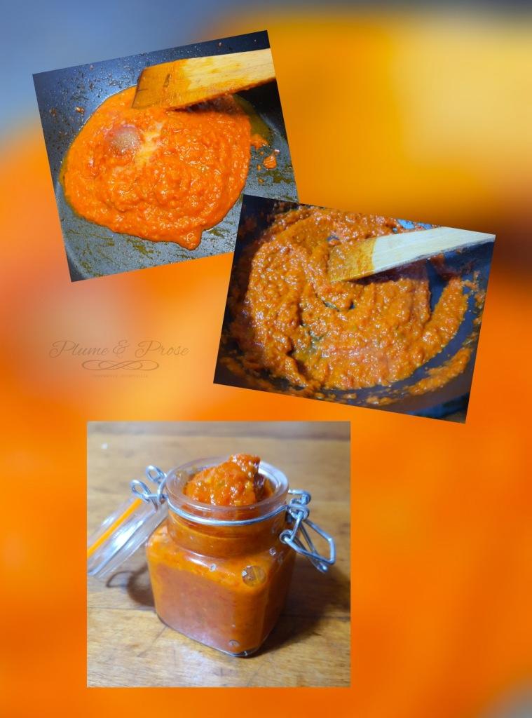 """Préparation du """"Sambal Belacan"""" ou la sauce chili à la pâte de crevettes"""