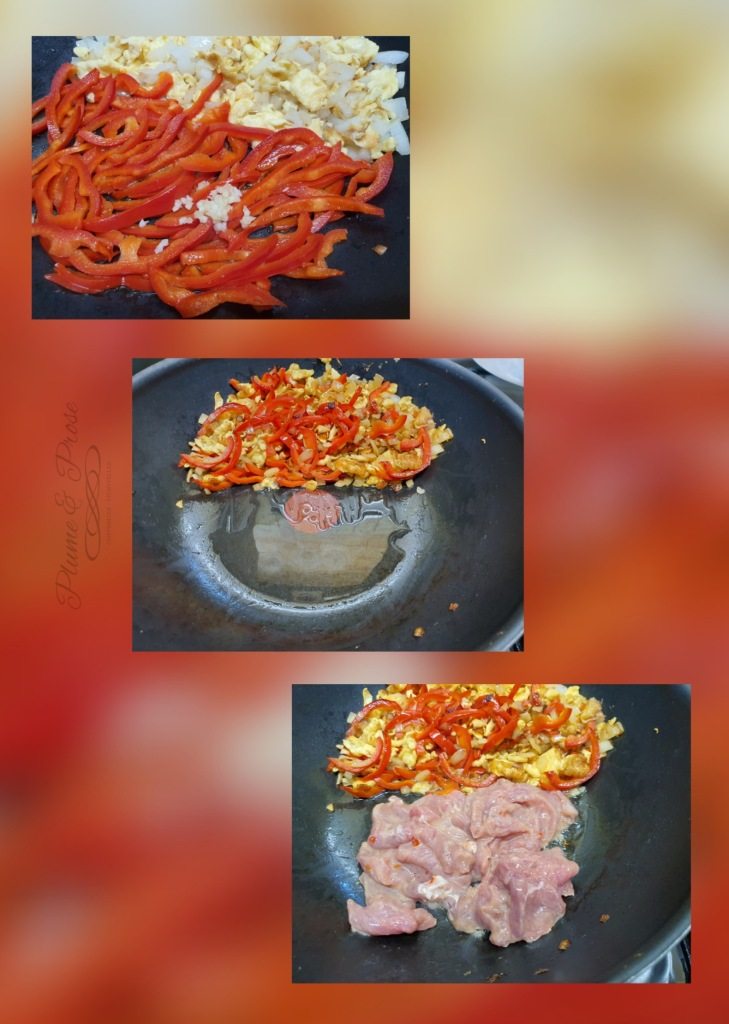 """Préparation des """"Noodle Stir Fry"""" ou les nouilles sautées de Singapour"""