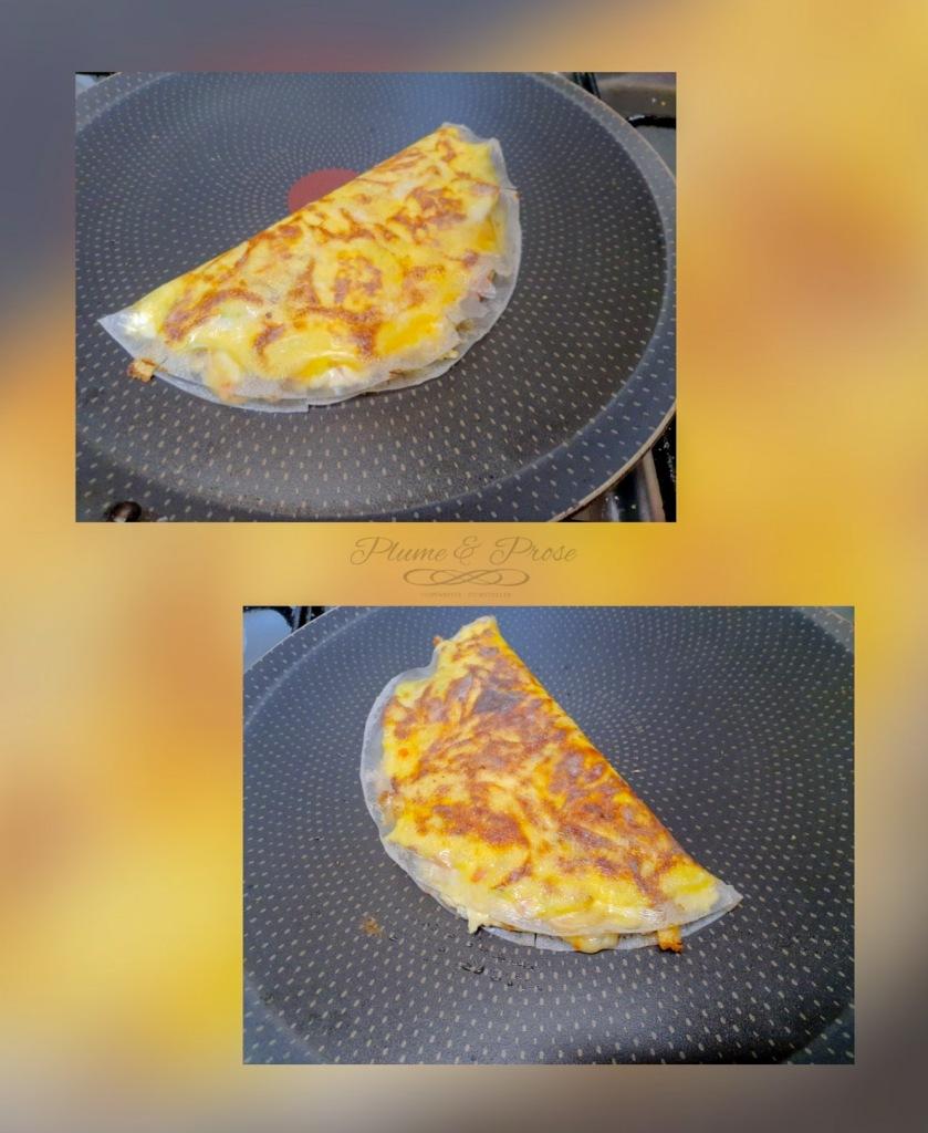 Préparation de la pizza populaire de la street food Vietnamienne