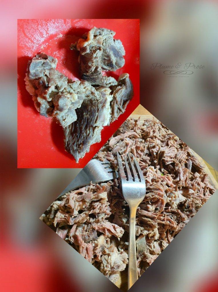 """Préparation du """"Seswaa"""" ou le bœuf braisé de Botswana"""