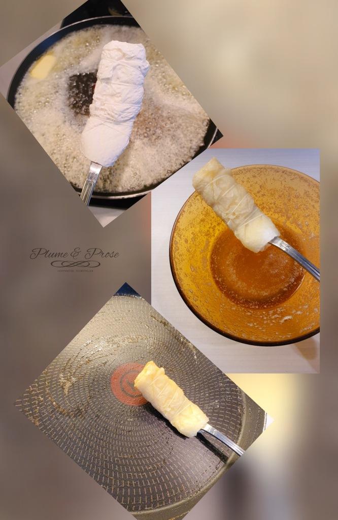 Préparation des crêpes de ma grand-mère