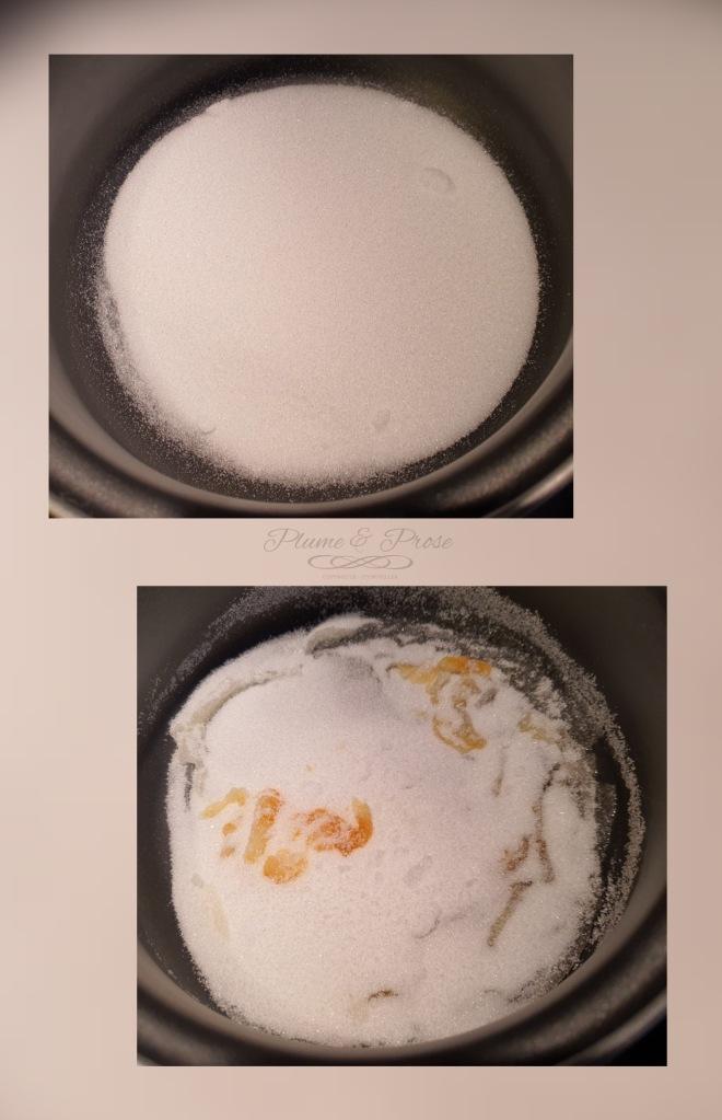 Préparation du caramel au beurre salé