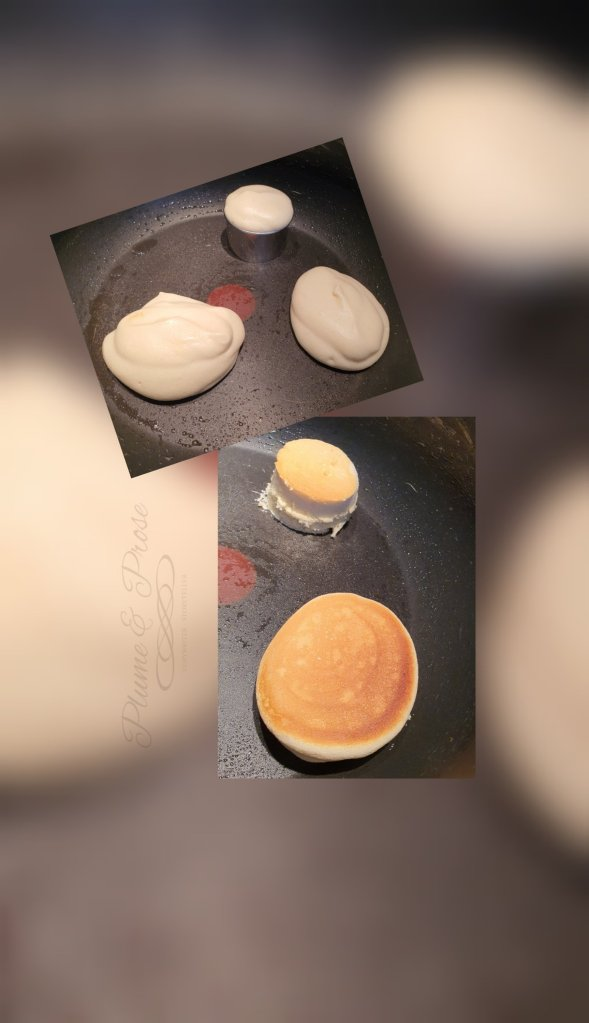 Préparation des Fluffy Pancakes