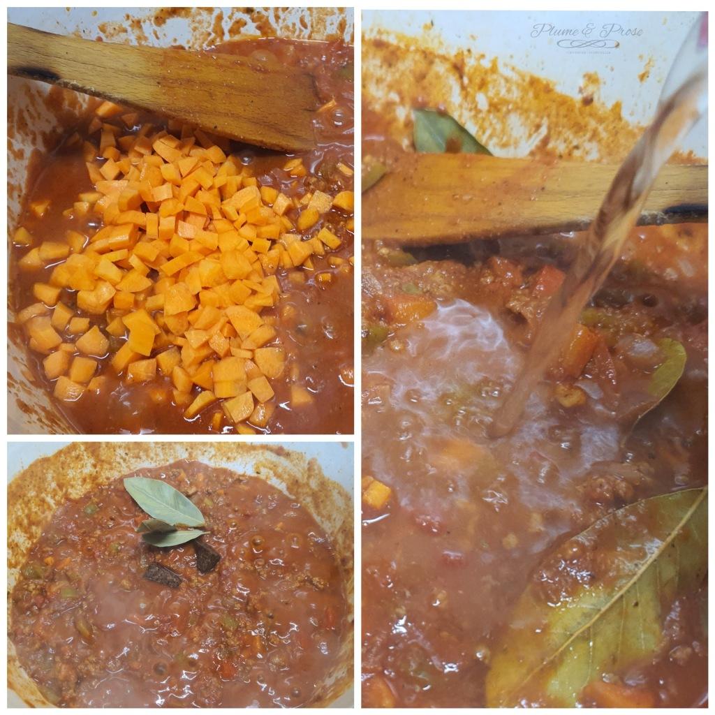 Préparation du goulash