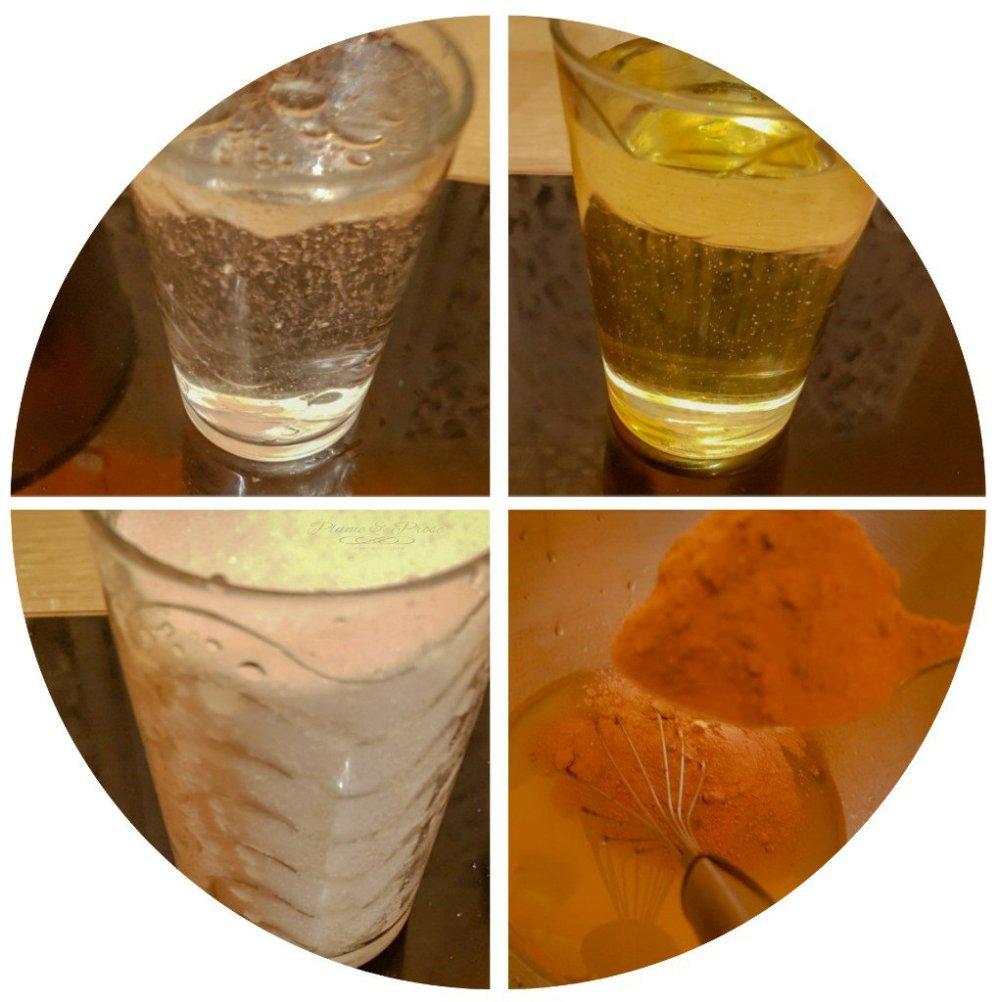 préparation du moelleux au chocolat à l'eau