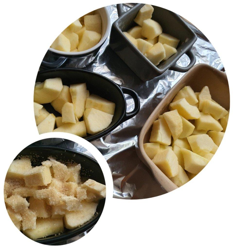 Préparation du Cobbler aux pommes