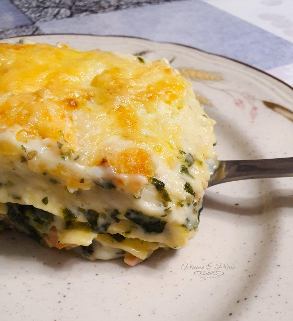 """""""Lasagnes Nordiques"""" ou les lasagnes saumon et épinards"""