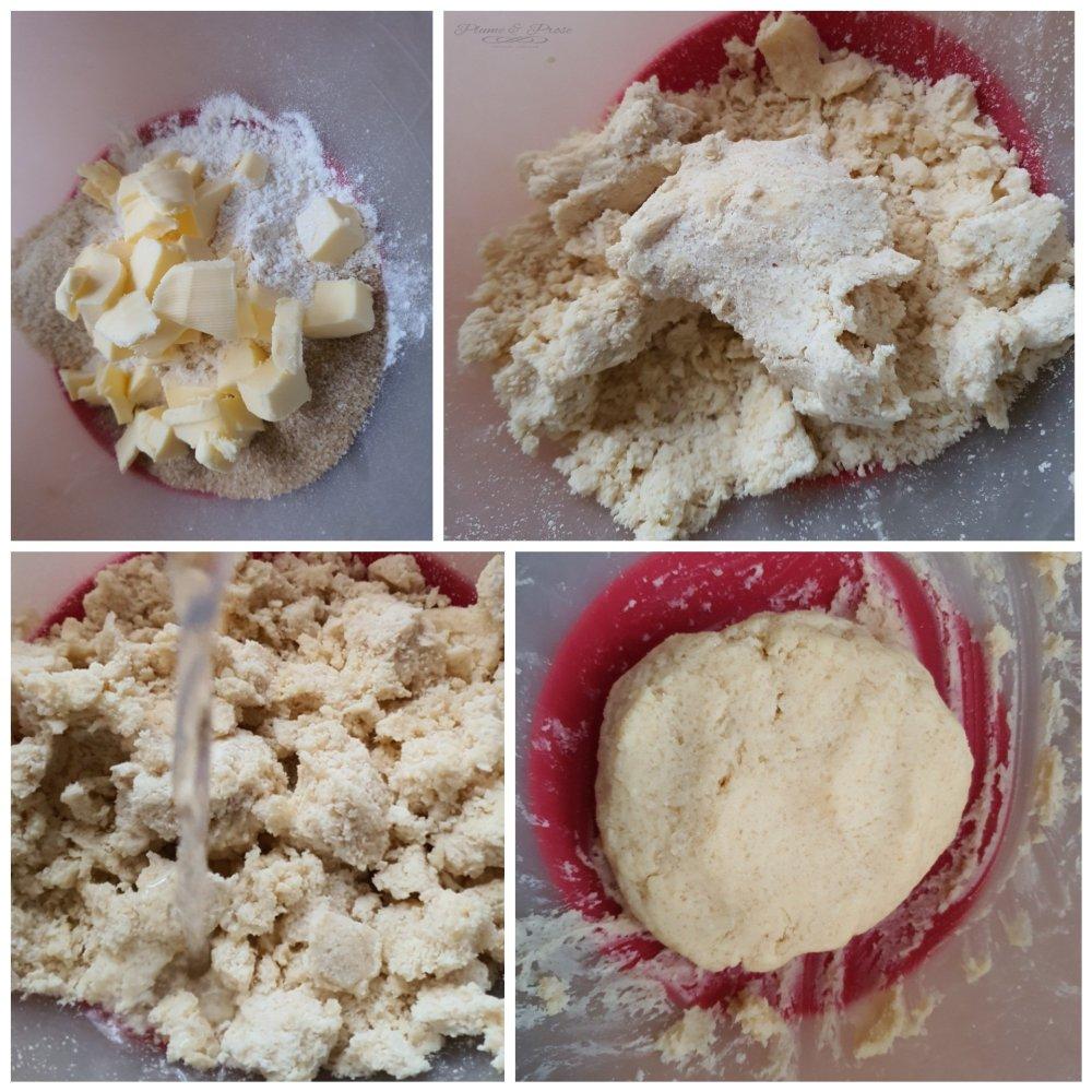 Préparation des biscuits champignons