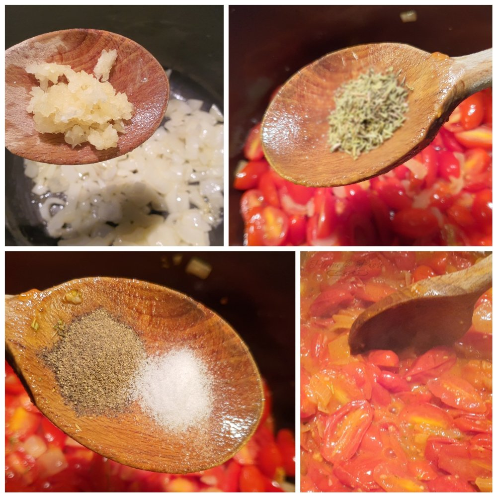 Préparation du velouté de tomate de Yotam Ottolenghi