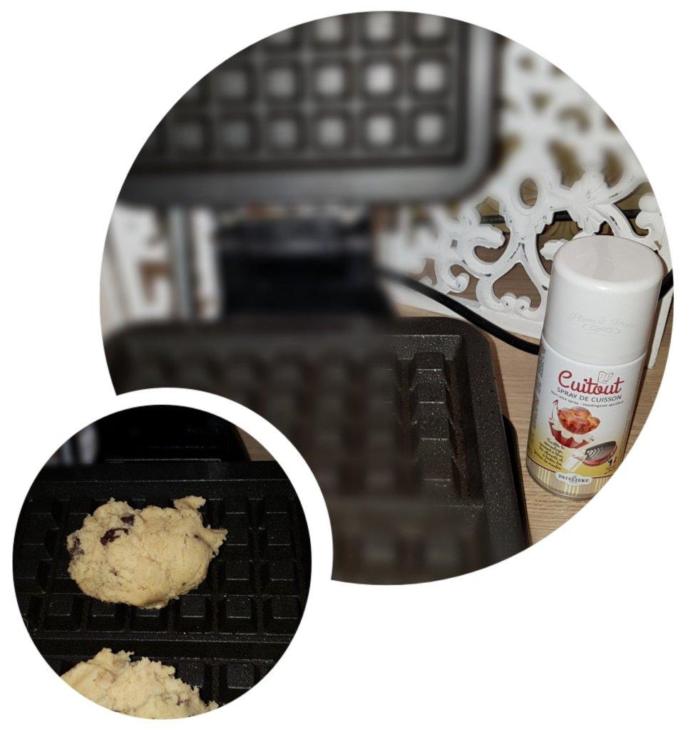 Préparation des cookie-gaufre