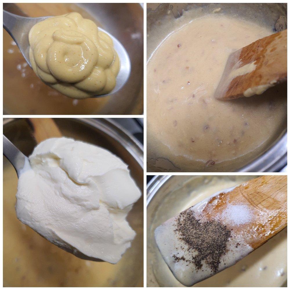 Préparation de la sauce à la moutarde