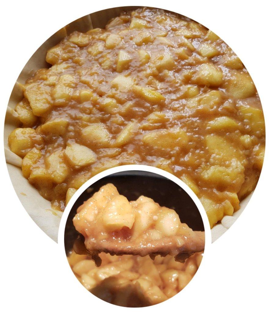 Préparation de la fameuse Apple Pie