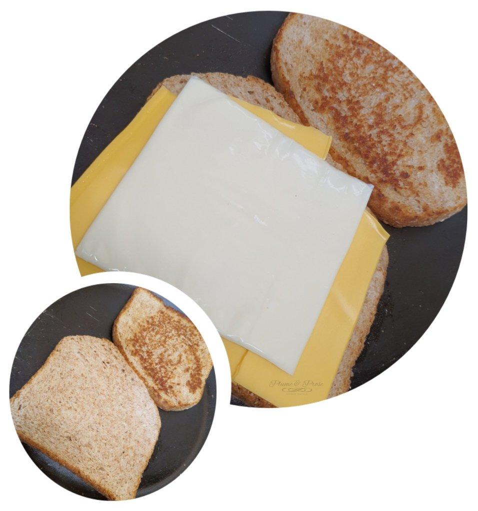 "Préparation du ""Grilled Cheese Sandwich"""