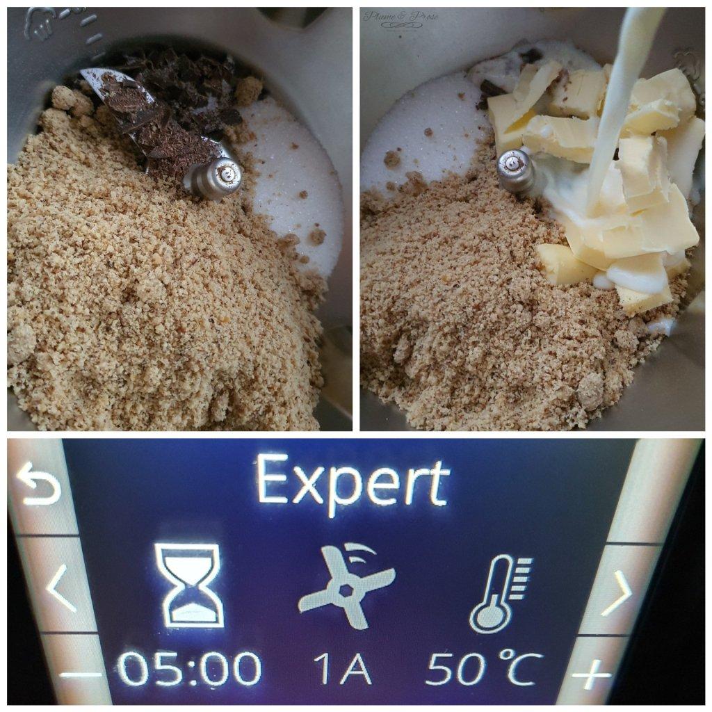 Préparation de la pâte à tartiner cacao-noisette