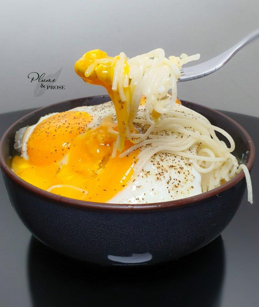 """""""Spaghetti au Comté et œufs à cheval"""" ou le délice du Chef Philippe Etchebest"""