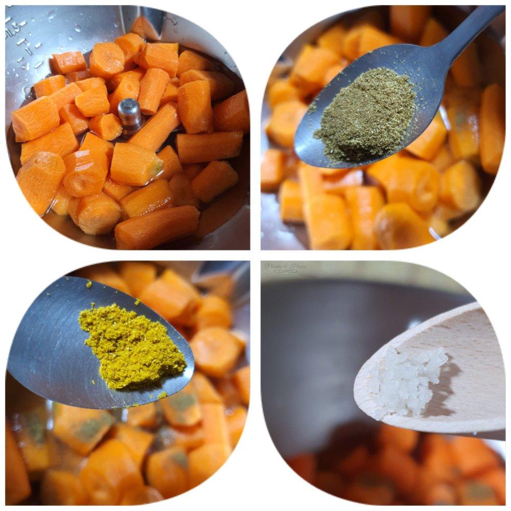 Préparation des verrines crémeuse Carotte-Cumin