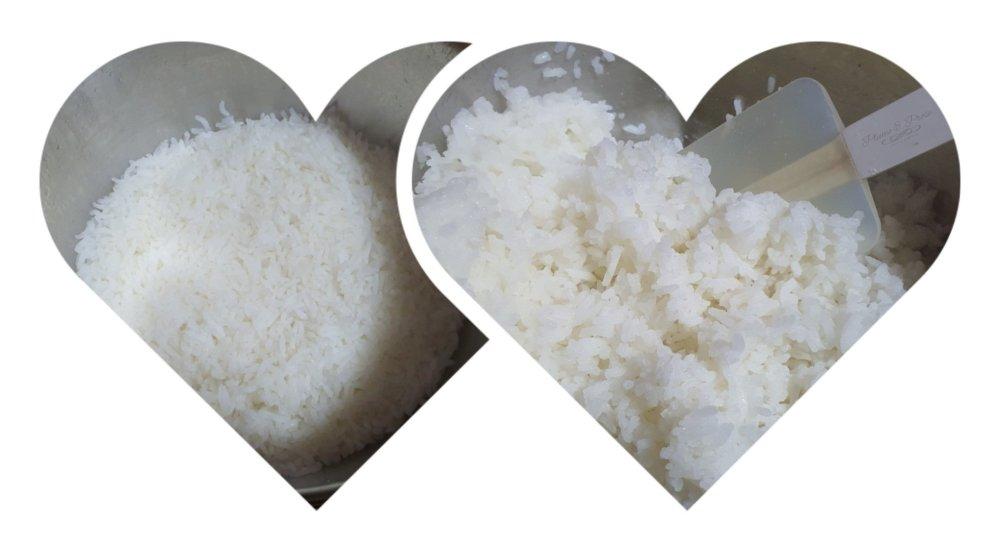 Préparation du riz traditionnel japonais