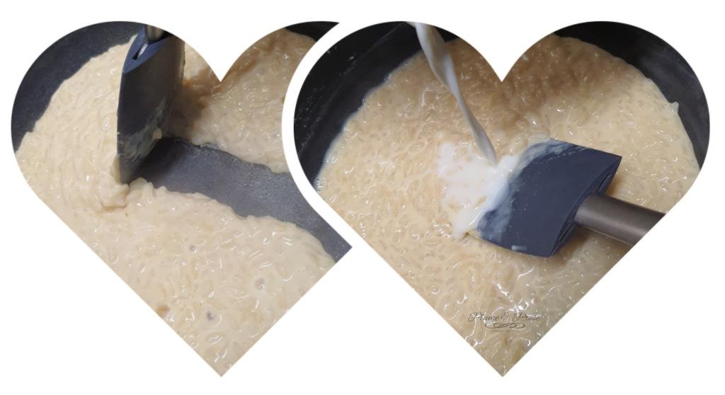 Préparation du riz au lait