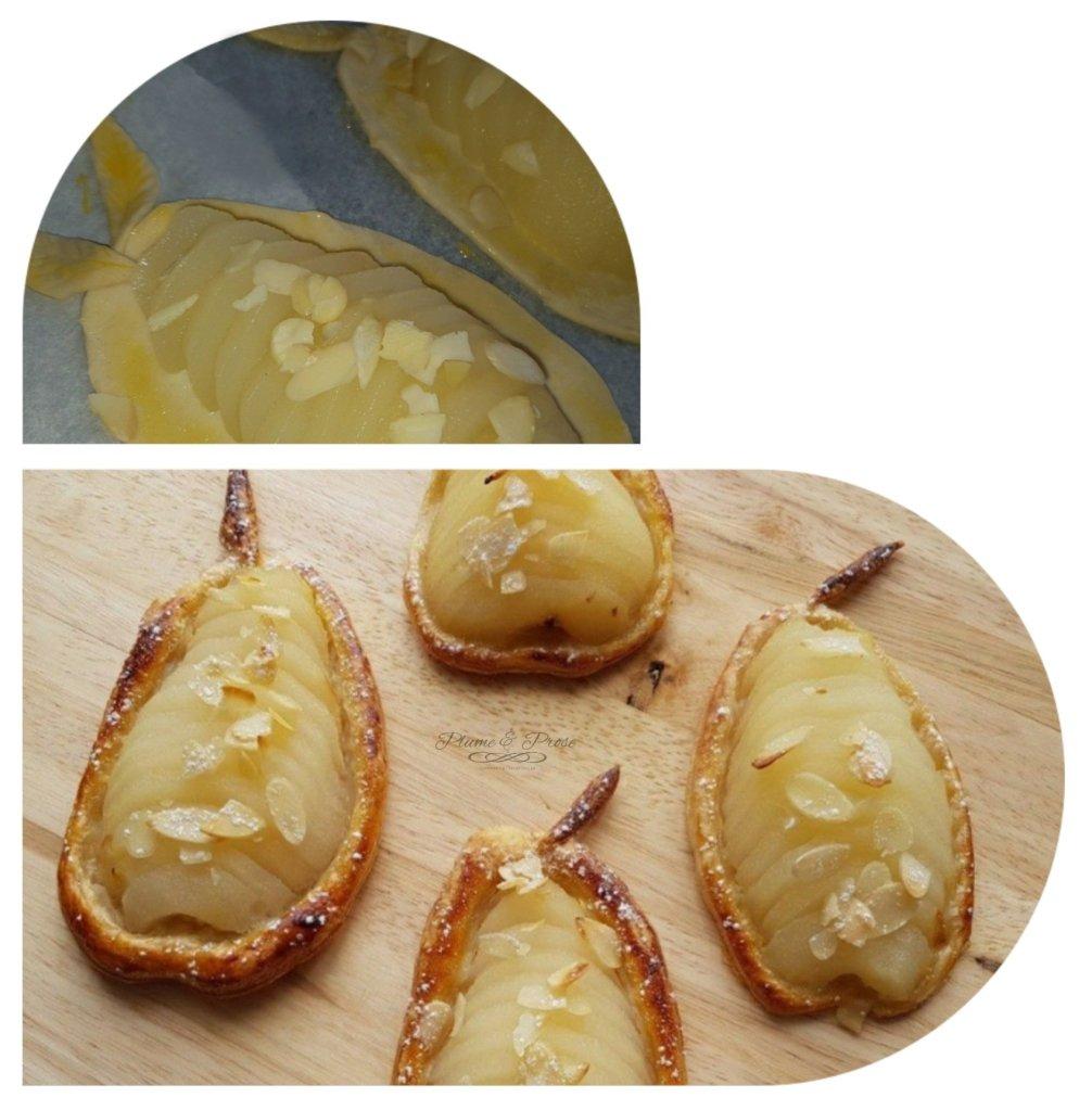 Préparation des poires feuilletées