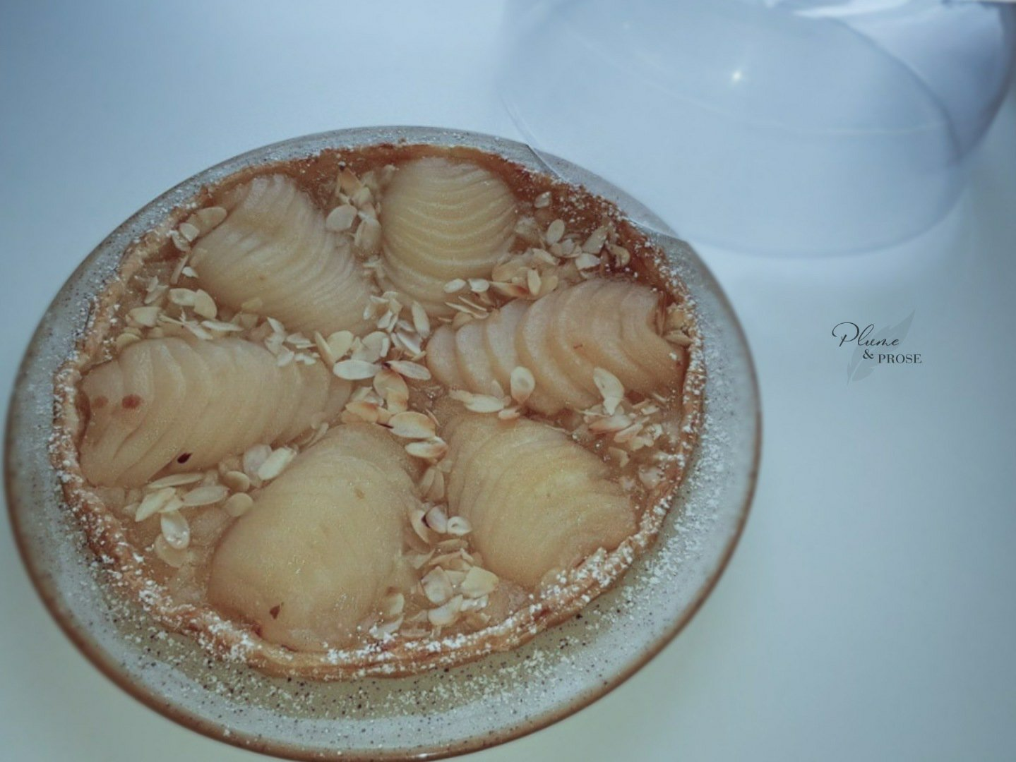 Voudriez-vous une part de cette tarte légère aux poires ?