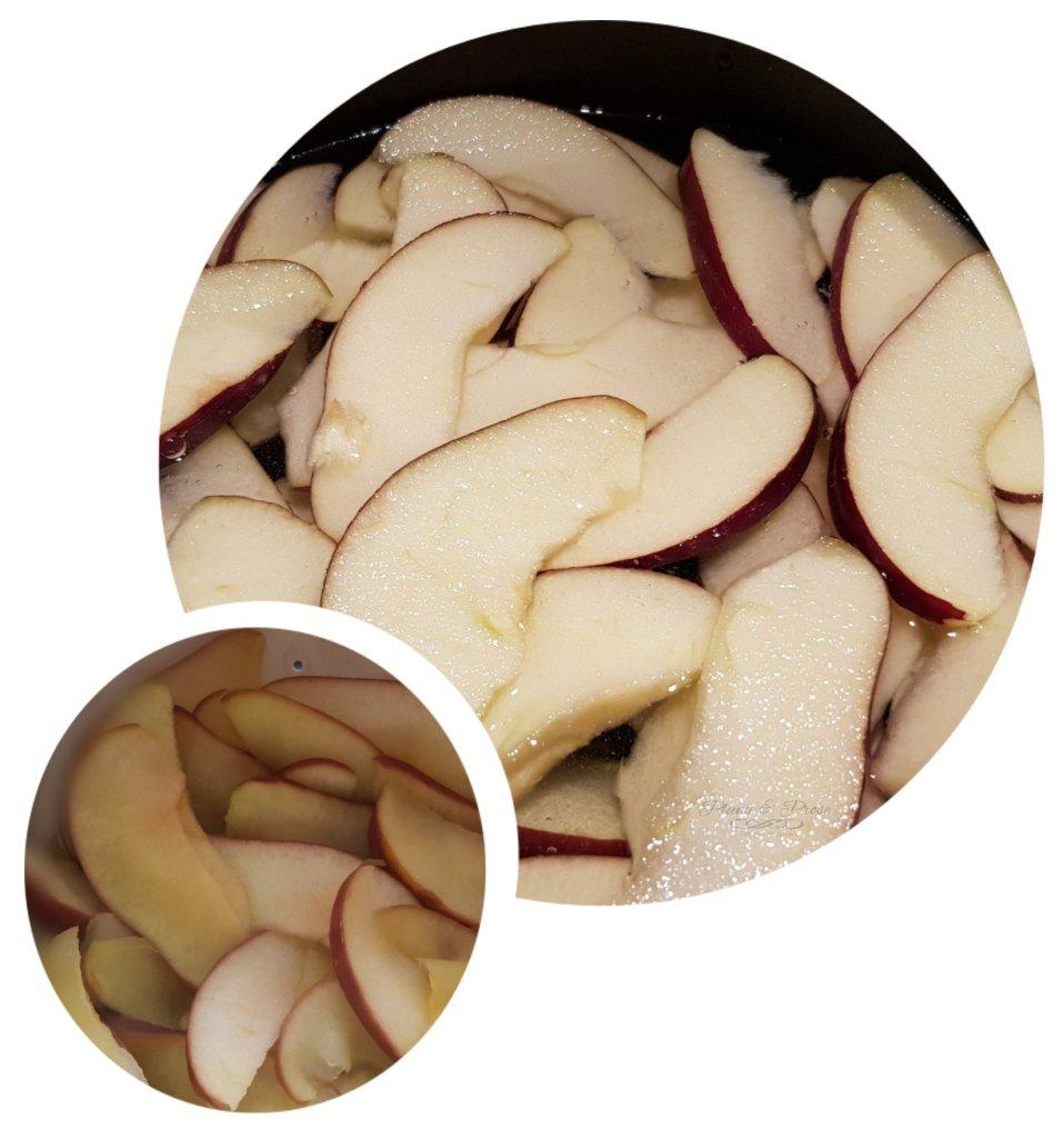 Préparation des roses feuilletées aux pommes
