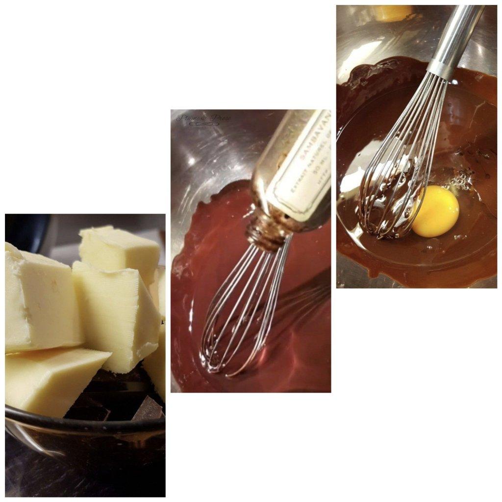 Préparation du gâteau au chocolat aux amandes