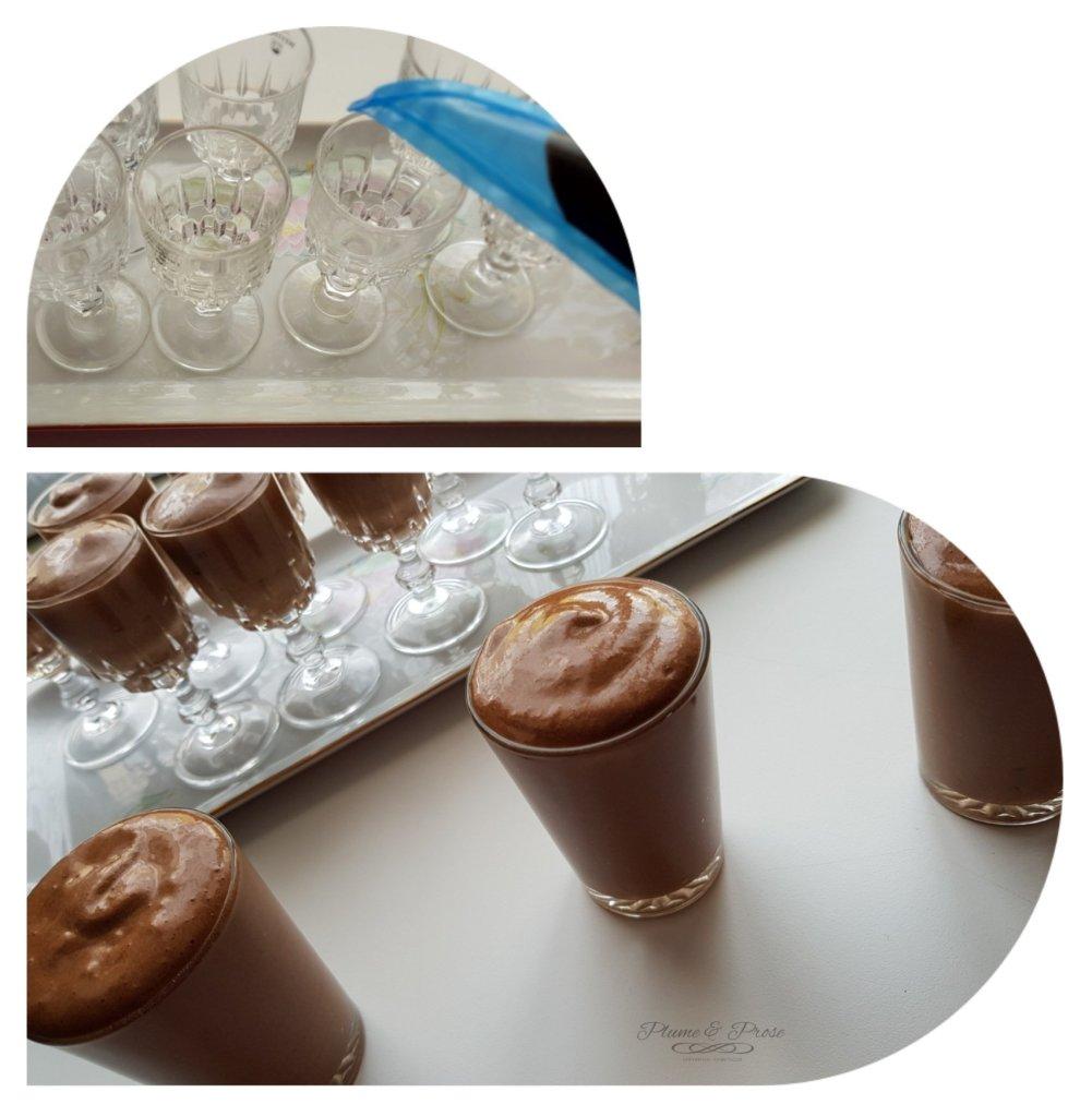 Préparation de la mousse au chocolat