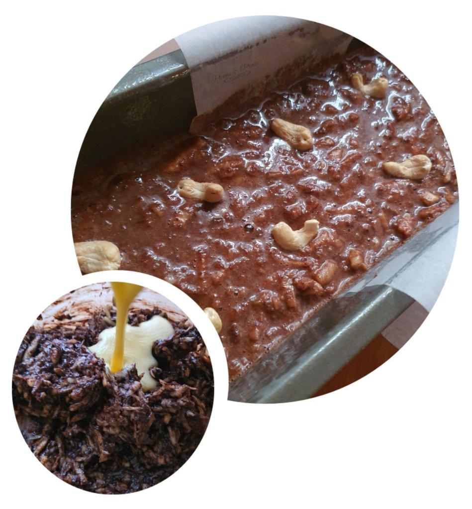 Préparation du Gâteau au chocolat à la purée de pommes