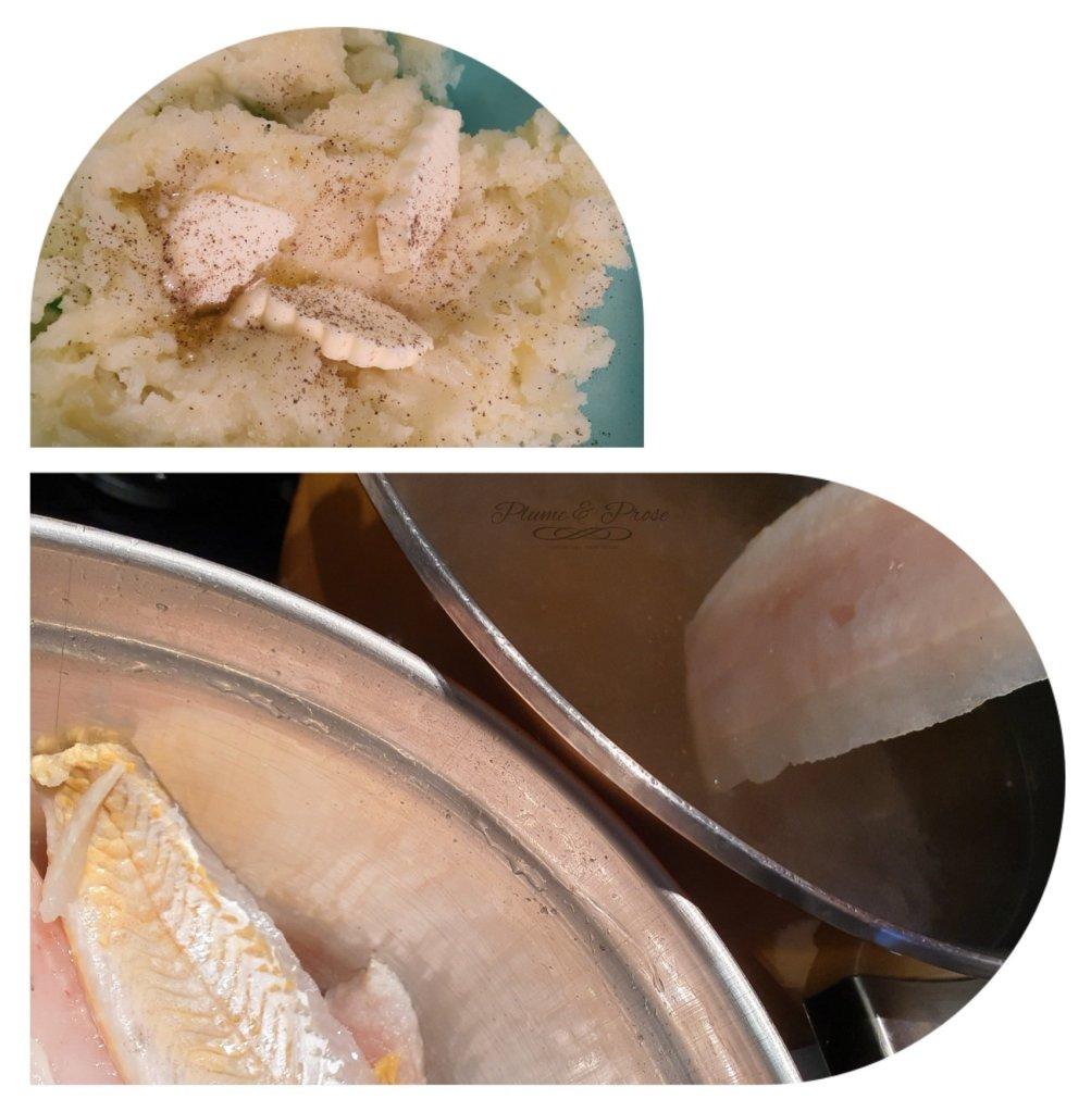 Préparation des croquettes de Cabillaud