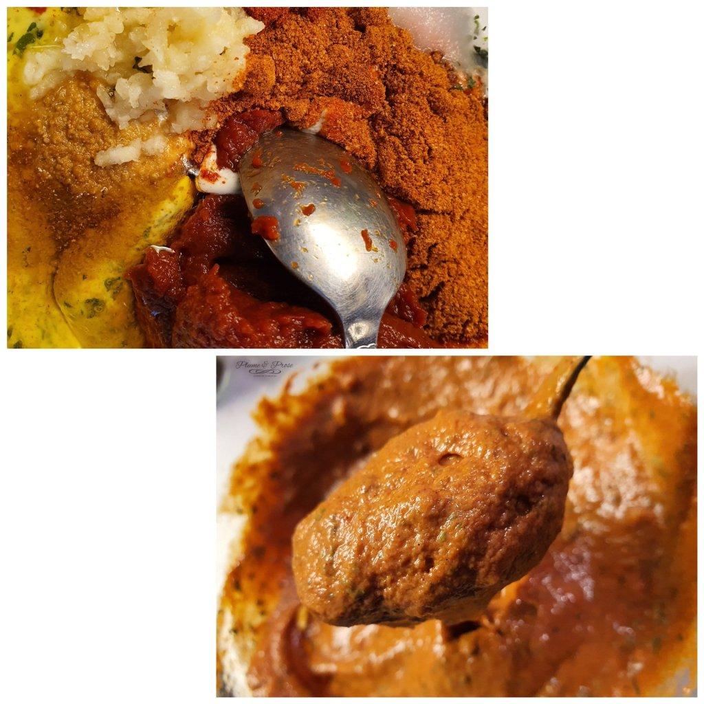 Préparation du poulet Tandoori