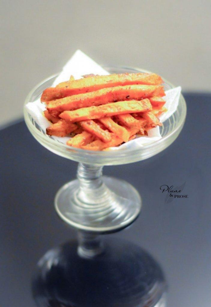 Croustillez pour de délicieuses frites de patate douce