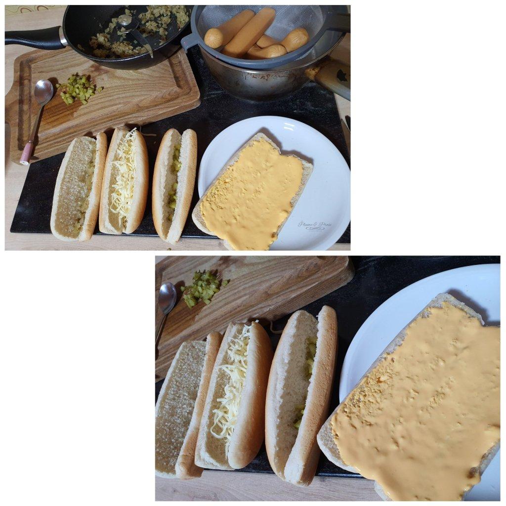 Préparation du Hot Dog