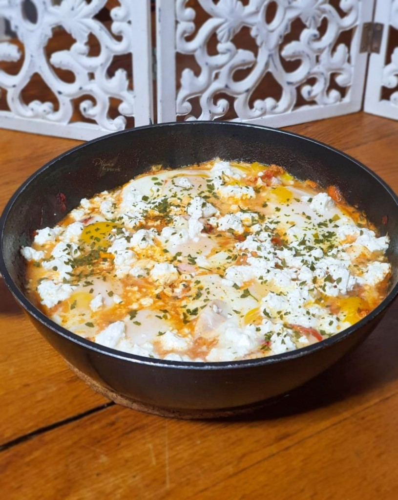 """Shakshuka Libyen"" ou les Œufs pochés à la sauce tomate"