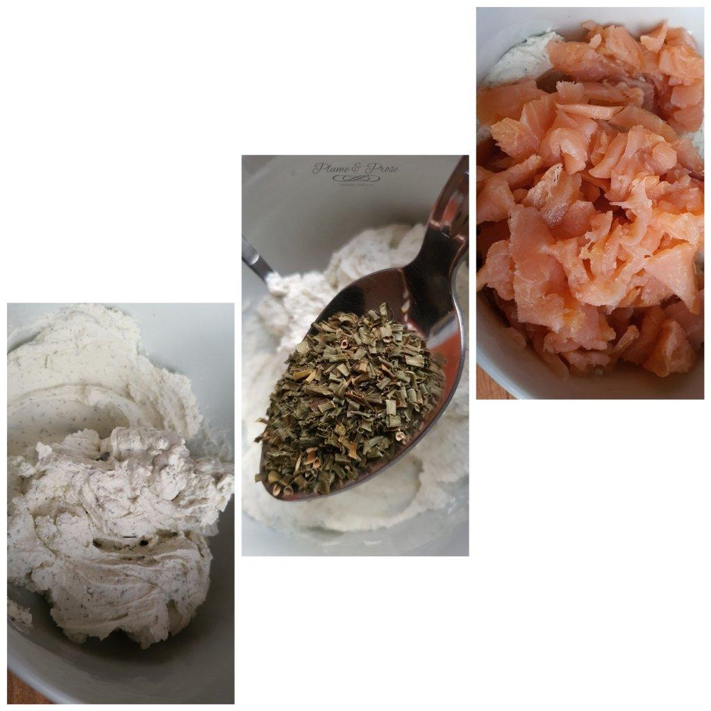 Préparation du Pâté au Saumon et Fromage Crémeux Estonien